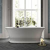 Old London Farringdon L1555 x W740mm Double Ended Freestanding Bath - NBB004 profile small image view 1