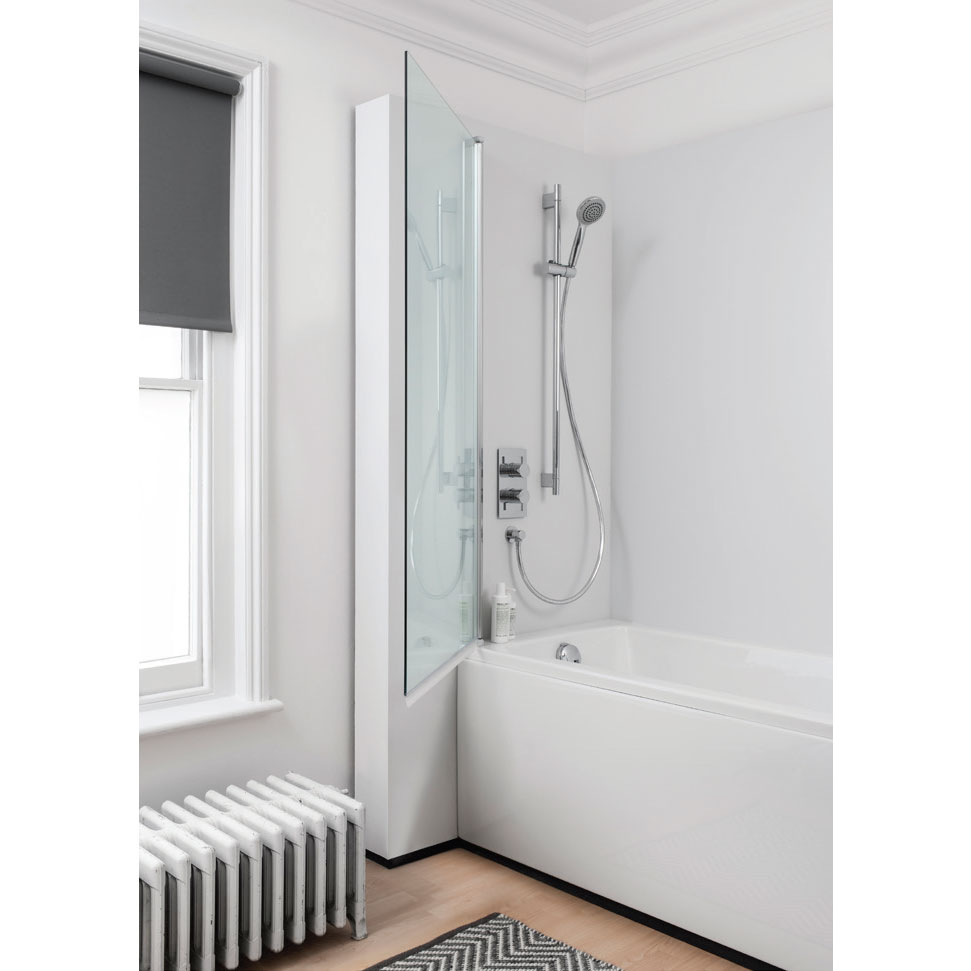 Simpsons - Click Single Bath Screen - 800mm profile large image view 2