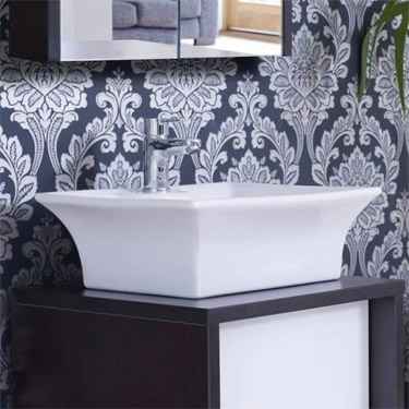 Rectangular Ceramic Counter Top Basin - NBV005 profile large image view 3