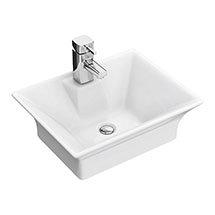 Rectangular 480 x 380mm Ceramic Counter Top Basin - NBV005 Medium Image