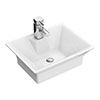 Rectangular 480 x 380mm Ceramic Flared Counter Top Basin - NBV005 profile small image view 1