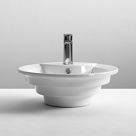 Nuie Round Tiered 460mm Ceramic Counter Top Basin - NBV006