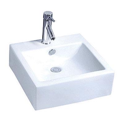 Premier - 470mm Square Ceramic Counter Top Basin - 1 Tap Hole - NBV102 Large Image