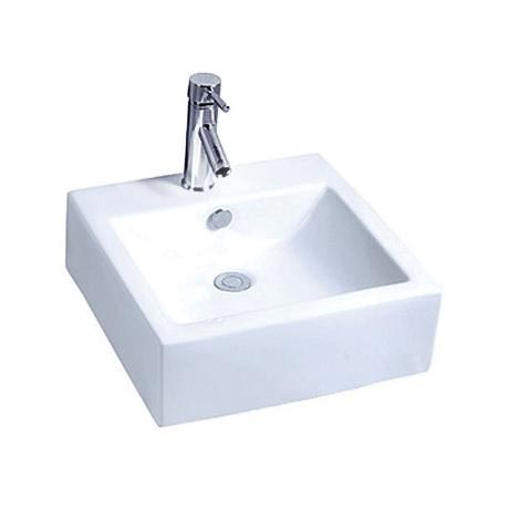 Premier - 470mm Square Ceramic Counter Top Basin - 1 Tap Hole - NBV102