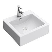 Premier 470 x 450mm Square Ceramic Counter Top Basin - 1 Tap Hole - NBV102 Medium Image