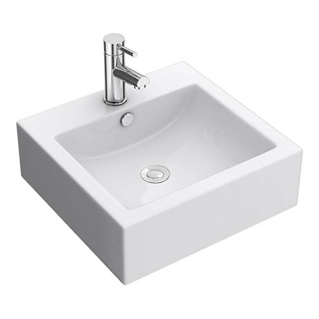 Premier 470 x 450mm Square Ceramic Counter Top Basin - 1 Tap Hole - NBV102