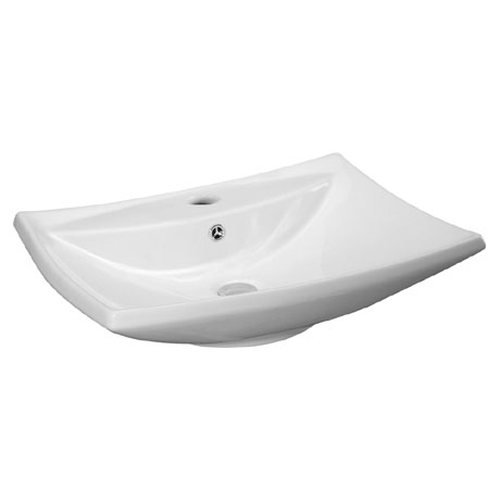 Premier - 605 x 445mm Rectangular Ceramic Counter Top Basin - 1 Tap Hole - NBV116