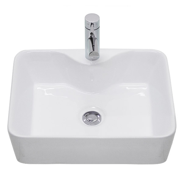 Premier - Tide 480 Square Ceramic Counter Top Basin - NBV119 profile large image view 2