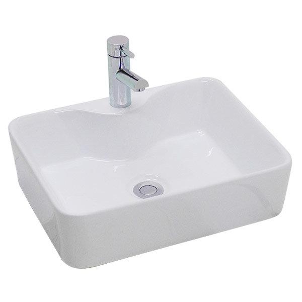 Premier - Tide 480 Square Ceramic Counter Top Basin - NBV119 Large Image