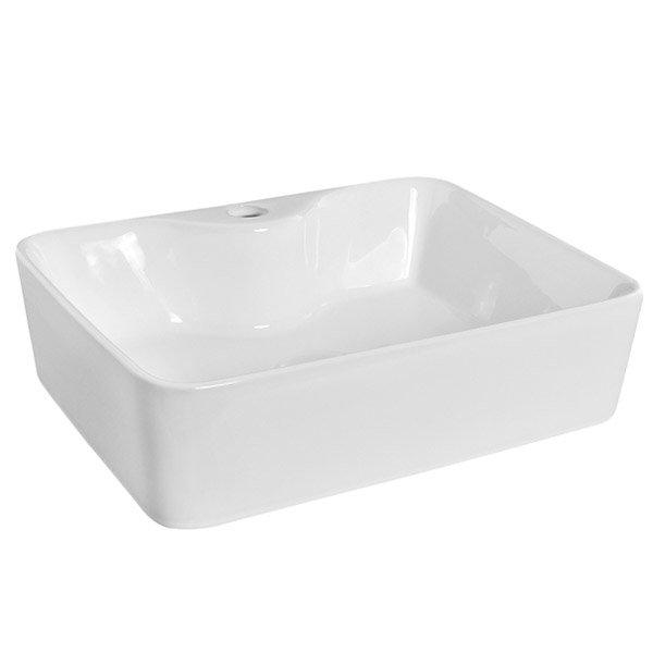 Premier - Tide 480 Square Ceramic Counter Top Basin - NBV119 profile large image view 4