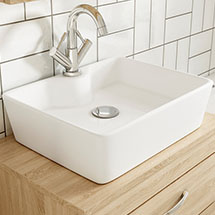 Premier Tide 480 x 370mm Square Ceramic Counter Top Basin - NBV119 Medium Image