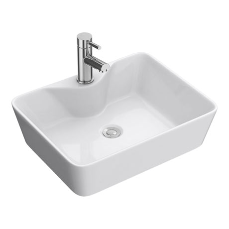 Premier Tide 480 x 370mm Square Ceramic Counter Top Basin - NBV119