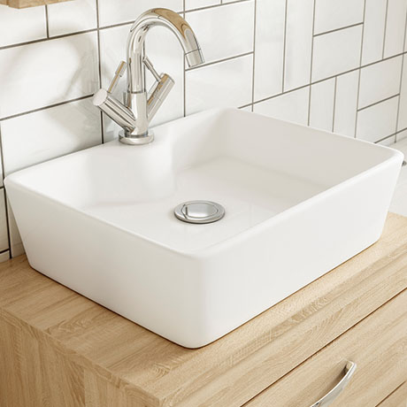 Premier Tide 480 x 370mm Square Ceramic Counter Top Basin - NBV119