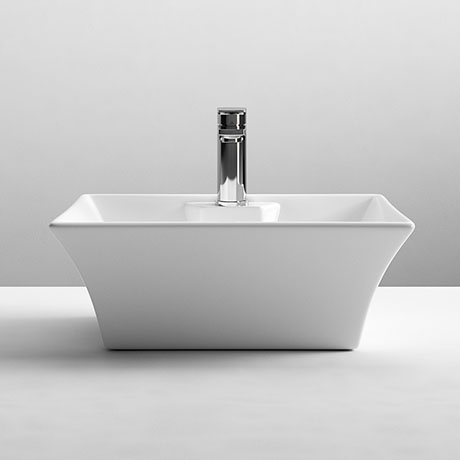 Nuie Rectangular 480 x 380mm Ceramic Flared Counter Top Basin - NBV005