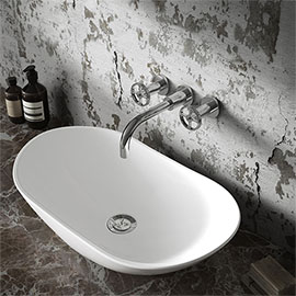 Hudson Reed Oval 615 x 355mm Countertop Vessel Basin - NBV159