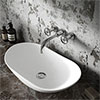 Hudson Reed Oval 615 x 355mm Countertop Vessel Basin - NBV159 profile small image view 1