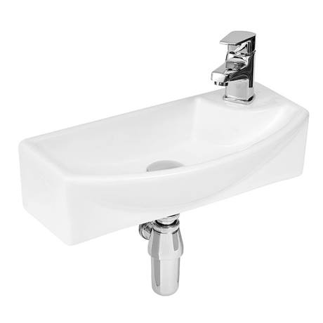 Hudson Reed 1TH Compact Wall Hung Basin (Right Hand) - NBV160