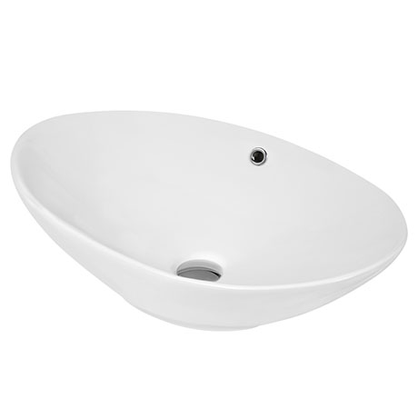 Hudson Reed Oval 588 x 390mm Countertop Vessel Basin with Overflow - NBV166