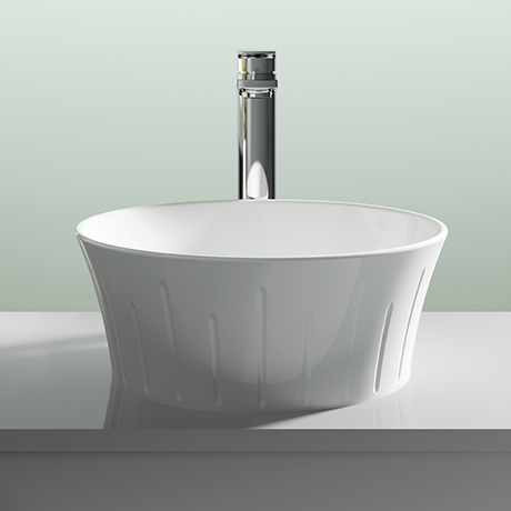 Premier Round 360mm Sit-On Countertop Vessel Basin - NBV167
