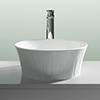Nuie Round 360mm Sit-On Countertop Vessel Basin - NBV167 profile small image view 1