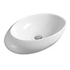 Hudson Reed Oval 490mm Countertop Vessel Basin - NBV168 profile small image view 1