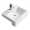 Hudson Reed 530mm Square Semi-Recessed Basin - NBV172 profile small image view 1
