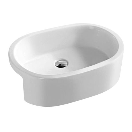 Hudson Reed 570mm Oval Semi-Recessed Basin - NBV173