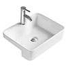 Hudson Reed 480mm Rectangular Semi-Recessed Basin - NBV174 profile small image view 1