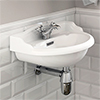 Old London - Chancery Wall Hung Cloakroom Basin (500mm Wide - 1 Tap Hole) profile small image view 1