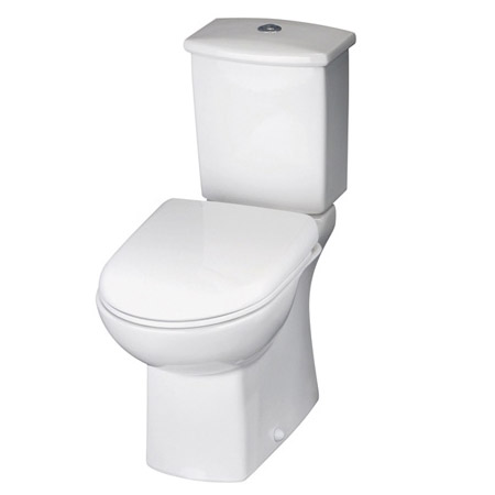 Premier - Asselby Ceramic Close Coupled Standard Toilet with Soft Close Seat Large Image