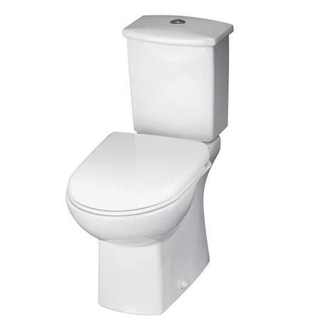 Premier - Asselby Ceramic Close Coupled Standard Toilet with Soft Close Seat