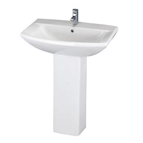 Premier Asselby 1 Tap Hole Ceramic Basin & Pedestal Set