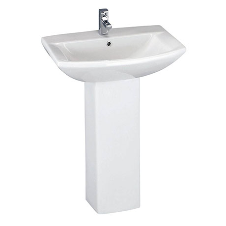 Premier Asselby 1 Tap Hole Ceramic Basin + Pedestal Set
