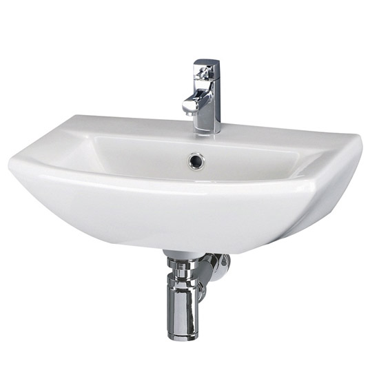Premier Asselby Wall Hung Cloakroom Basin (500 x 375mm) - NCA204 Large Image
