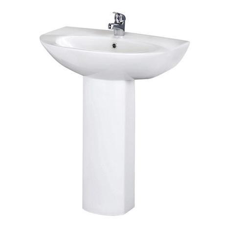 Premier - Knedlington 600 Basin & Pedestal Set - 1 Tap Hole - NCA302-NCA303
