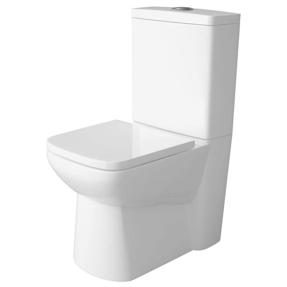 Premier - Ambrose 4 Piece Bathroom Suite - CC Toilet & 1TH Basin w Pedestal - 2 x Basin Size Options Feature Large Image