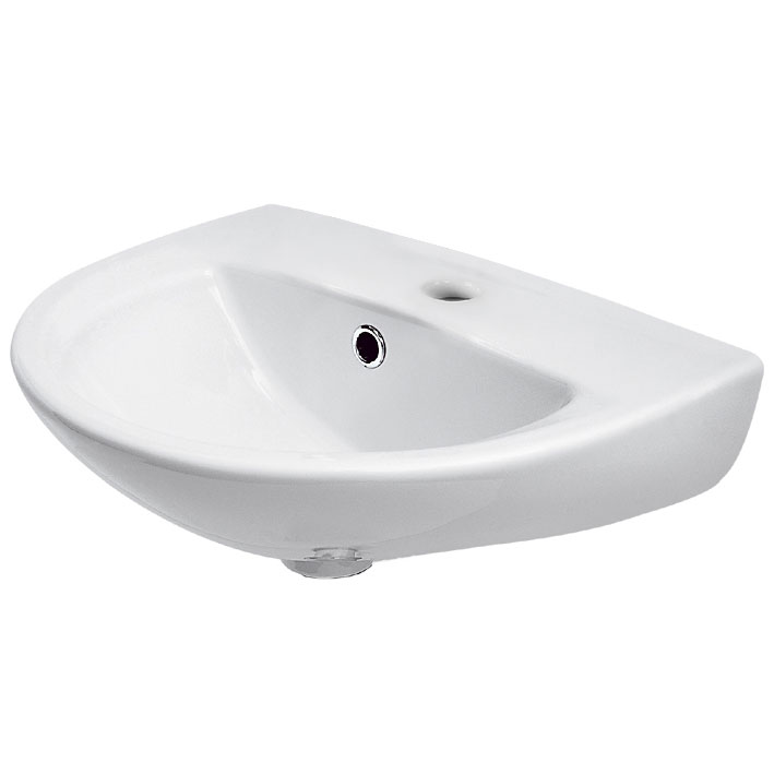 Premier - Pandora 450mm Wall Hung Basin - 1 or 2 Tap Hole Options Large Image