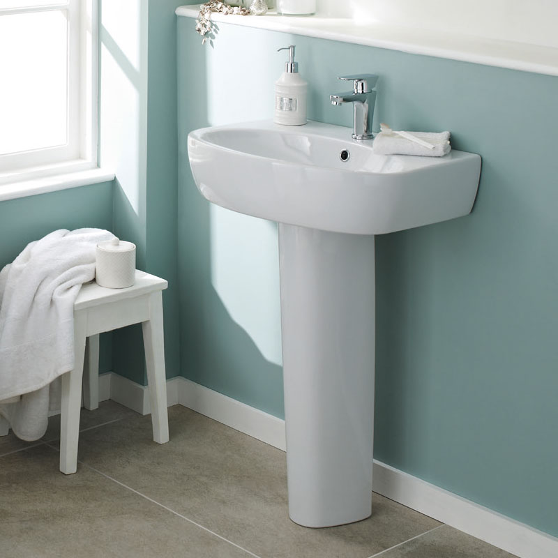 Premier - Cairo 1TH Basin with Pedestal - Various Size Options Feature Large Image