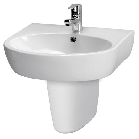 Premier - Cairo 1TH Basin with Semi-Pedestal - Various Size Options