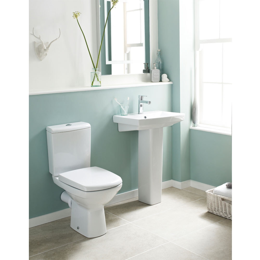 Premier - Hamilton Close Coupled Pan & Cistern with Soft Close Seat Profile Large Image