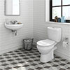 Novad Ceramic Cloakroom Suite profile small image view 1