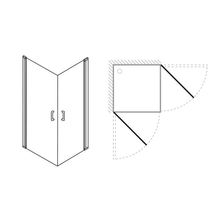 Simpsons - Click Easy Access Double Hinged Door - 2 Size Options profile large image view 3