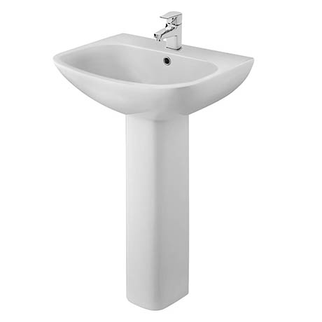 Premier Ava 545mm 1TH Basin & Pedestal - NCG400