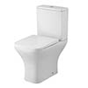 Premier Ava Rimless Short Projection Close Coupled Toilet + Soft Close Seat - NCG450 profile small image view 1