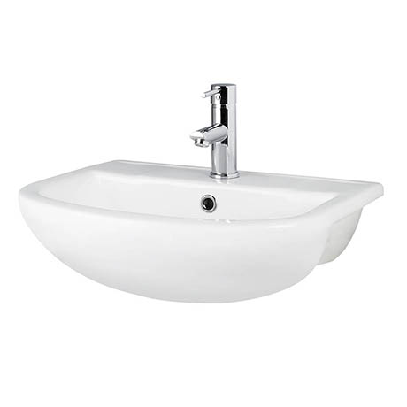 Premier Harmony 500mm Semi Recess Basin - 1TH - NCH305