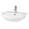 Nuie Harmony 500mm 1TH Semi Recess Basin - NCH305 profile small image view 1