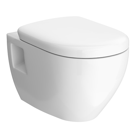Nuie D Shaped Wall Hung Pan with Soft Close Seat - NCH900C