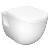 Nuie D Shaped Wall Hung Pan with Soft Close Seat - NCH900C profile small image view 1