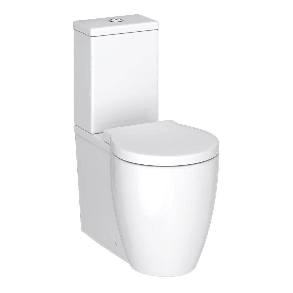 Premier Darwin Flush To Wall Toilet + Soft Close Seat Large Image