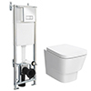 Nuie Cambria Wall Hung Toilet with Dual Flush Concealed Cistern + Wall Hung Frame profile small image view 1